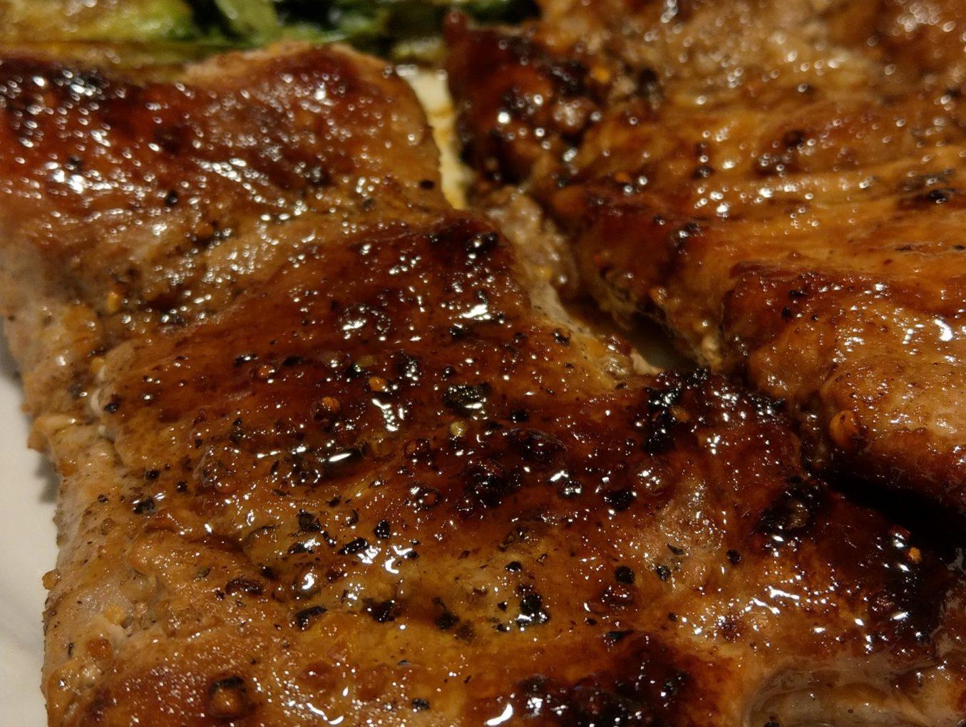 Chipotle honey glazed pork chop