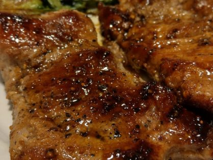 Chipotle honey glazed pork chop